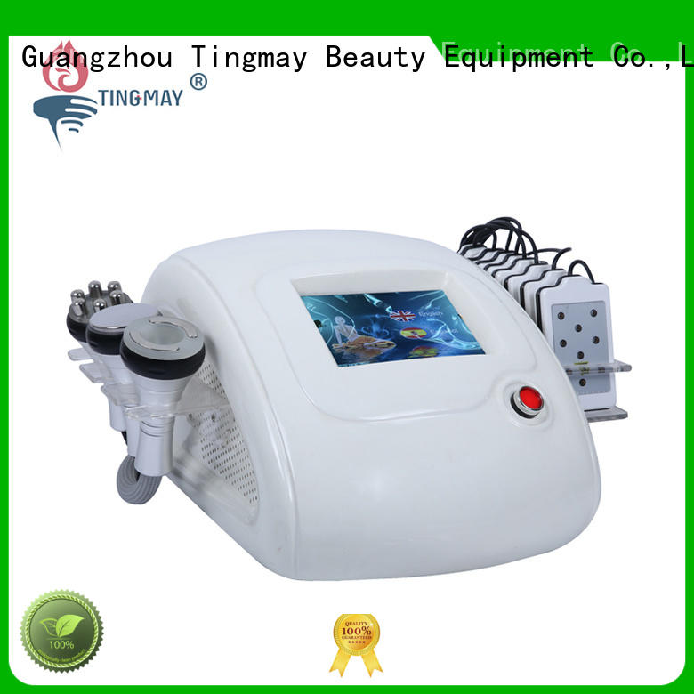 ultrasonic liposuction cavitation machine fat removal 40K hz vibration face Tingmay