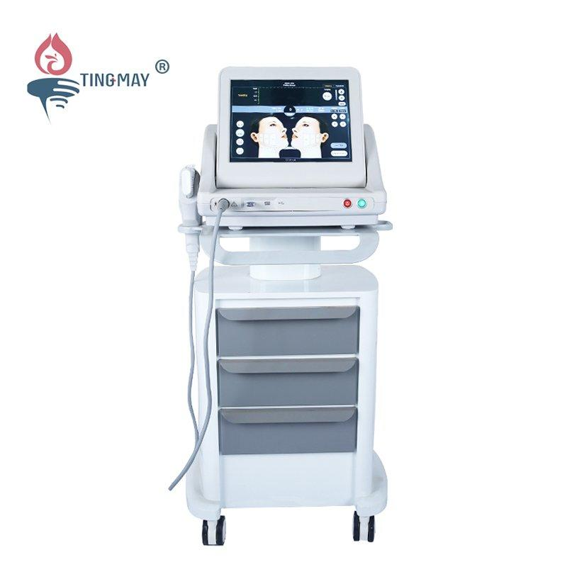 High intensity focused ultrasound hifu skin tighten face lift hifu machine