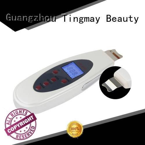 portable beauty ultrasonic skin scrubber spatula Tingmay