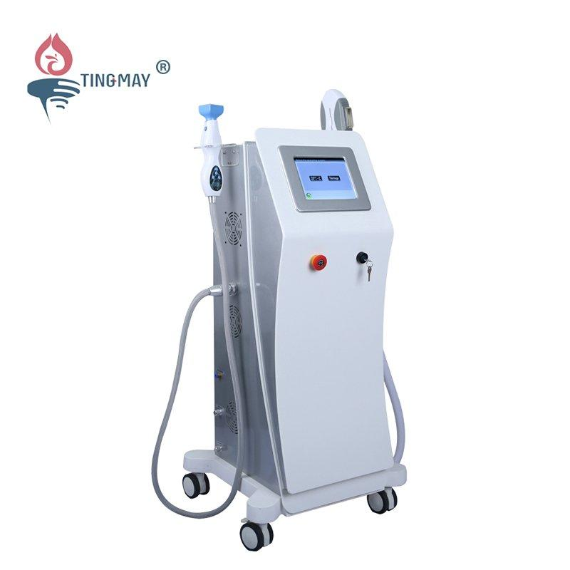 Fractional rf microneedle and IPL hair removal machine TM-136