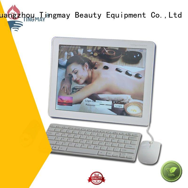 beauty skin analyzer machine touch screen design for man